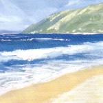 морской пейзаж акрилом