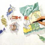 натюрморт цветными водорастворимыми карандашами