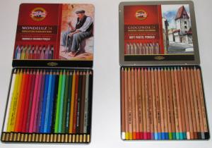 акварельные карандаши и пастель в карандашах