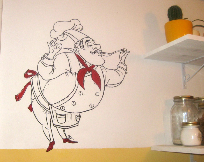 Рисунки на стену на кухню