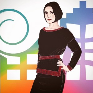 портрет девушки компьютерная графика