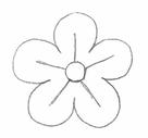рисуем цветы. упражнение для рисования