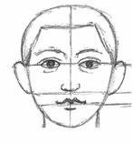 рисуем лицо человека анфас