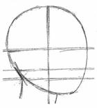 рисуем лицо человека в профиль