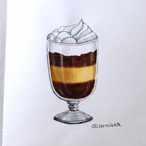 десерт в стекле маркерами