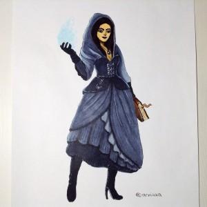 рисунок волшебницы маркерами