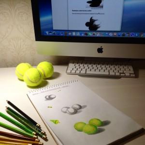 теннисные мячи рисунок