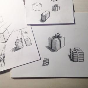 коробки рисунок