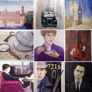 акварельный Шерлок, мои рисунки