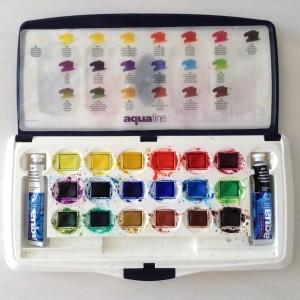 мои акварельные краски AquaFine