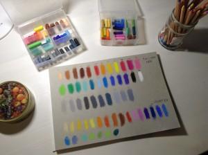 рисование пастелью, процесс