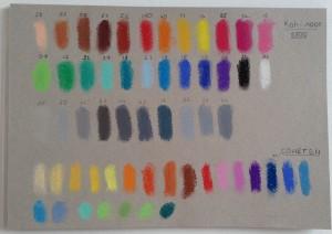 карта цветов пастель