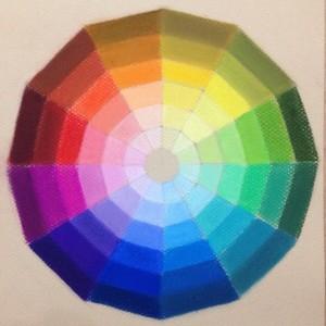 Идеальный цветовой круг пастелью