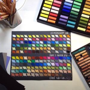 выкраска цветов пастели
