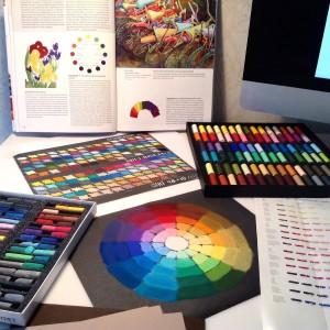 цветовой круг и выкраска пастелью