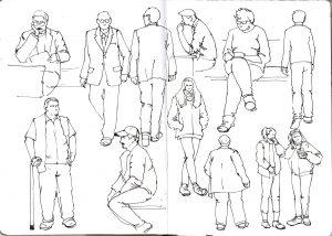 фигуры людей линером М