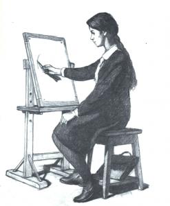 положение при рисовании