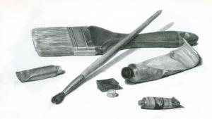 тушевка карандашом