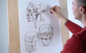Рисование головы. Александр Рыбкин